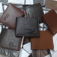 Wholesale 2015 New Vintage Men s Wallet Fine Bifold Brown PU Leather Cowskin Money Purse Wallet Wallet For Men