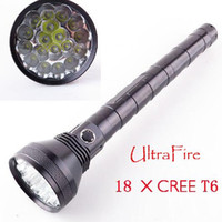 Wholesale Trustfire Cree Battery - 2016 Flashlight T6 18 CREE XML 22000LM  9*CREE 11000LM handlamp with battery Ultrafire Strong Torch handlight For Camping Hiking