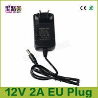 Wholesale Led Supply Transformer Dc12v 2a - fast 1 pcs DC12V 2A AC100-240V Converter Adapter led Power Supply Lighting Transformers for 3528 5050 5630 2835 led strip