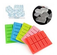 Wholesale Frozen Bar Drinks - Building Bricks Silicone Ice Cube Tray Candy Chocolate Cake Mold Bar Party frozen Drink For Lego Lovers
