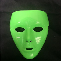Ensemble du visage PVC Plaine Hip-hop Green Mask Costume Party cosplay Dance Crew Paquet de 600 DHL Livraison gratuite