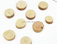 Wholesale country wooden - 300pcs mini 20mm-30mm Wood circle Round wooden beads, Tree slices Rustic decor, Country style, Wedding decors,Medals craft