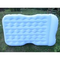 Wholesale Color PVC Flocking Car Airbed Inflatable Mattresses Foldable Pump Car Cushion Air Bed Camping Self drive Travel Supplies Promotion SK564