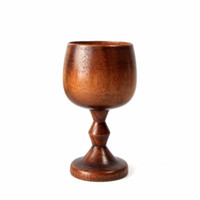 Wholesale Wholesale Antique Tea Cups - New Natural Wooden Tableware Drinking Tea Wine Cup Hand-made Jujube Wooden Wine Goblet Water Cup 5oz Drinkware