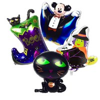 Wholesale Boots Coat - 4pcs set Halloween Ballons Set Boot Mickey Foil Balloons Halloween Party Decorations Air Balloons Inflatable Toys Party Supplies