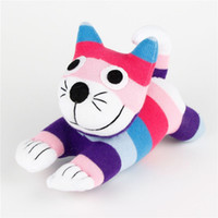 Kawaii Pokemon Peluches Elmo rayas de colores Calcetines Doll Cat Soft Juguetes para Niños Niños Juguetes Animales de peluche 2PCS / Lot
