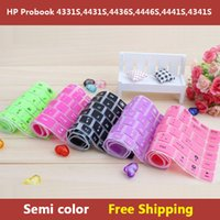 Wholesale Hp Laptop Keyboard Skins - Wholesale-Semi color laptop Keyboard cover skin protector for HP Probook 4331S,4431S,4436S,4446S,4441S,4341S