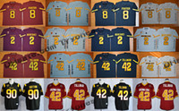 Maglia da calcio Arizona State Sun Devils College Throwback 42 Pat Tillman 90 Will Sutton 2 Mike Bercovici 8 D.J. Foster New Jerseys
