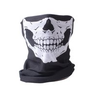 Wholesale Helmets For Halloween - 10X Balaclava Skull Bandana Helmet Neck Face Masks For Bike Motorcycle Ski Outdoor Sports Halloween Skeleton Scarf New Style