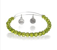 Wholesale Alex Ani Beaded - Europe selling DIY jewelry Alex and Ani style crystal beaded bracelet Crimson Eden EH224