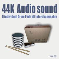 spielzeug elektronische trommel großhandel-Spiele Zubehör Spiel Spielzeug Tragbare Spiel-Spieler E-Drum-Set Musikinstrumente Perkussion 44K Audio-Sound Sechs Drum Pads