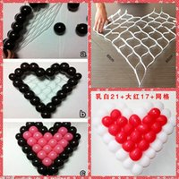 Wholesale Wholesale China Fix Shipping - Wholesale Heart Griding For Wedding Balloon Fixed Decoration Cheap Sale From China Wedding Decoration Balloon Fixed Plastic Mesh