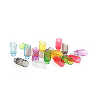 Wholesale Cheap Plastic Drip Tips - Cheap Colorful Muffler Drip Tips Plastic Transparent Wide Bore Drip Tip Large Caliber Drip Tips for CE4 DCT EGO 510 Atomizer Mouthpieces