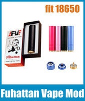 Fuhattan Vape Mod Aluminium Colorful E Cigarette 18650 Mechanical Mod 510 Thread для RDA Atomizer Бесплатная доставка TZ167