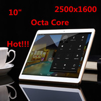 Wholesale Slim Gsm Tablet - Tablet PC 10.1 inch Octa Cores 2560X1600 DDR3 4GB ram 32GB 8.0MP Camera 3G sim card Wcdma+GSM Tablets PCS Android4.4