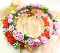 Свадебные аксессуары для волос Boho Flower Round Crown Adjustable Headband Wedding Floral Garlands Hairband Party Event Hair Jewelry
