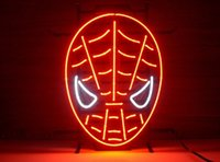Großhandels-NEUES rotes spiderman REAL GLASS TUBE NEONZEICHEN LIGHT BEER PUB 17