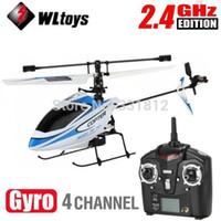 helicóptero de control remoto rtf al por mayor-WLtoys alta calidad aumentada remoto de helicóptero de la versión V911 4CH 2.4Ghz sola pala de la hélice del control de radio RC w / GYRO modo RTF 2