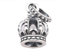 Wholesale Ml Wholesale Jewelry - Fits Charms Necklace Bracelet 925 Sterling Silver Bead Dangle Crown Pendant European Charm DIY Jewelry ML