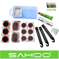 Wholesale Set Patch Bike - ROSWHEEL Bike Bicycle Cycling Tire Repair Kit Set Patch Rubber Portable Box Best Quality Free shipping