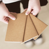 Wholesale Paper Note Books - Wholesale-Cowhide paper small book represatation blank notebook portable notepad Mini-book