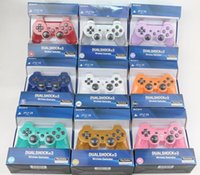Wholesale wireless controller wholesale - PS3 controllers Wireless Controller Game Controllers Double Shock playstation PS3 gamepad 11 colors with retail box