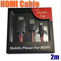 Wholesale Galaxy S3 Full - HDMI Cable Full HD 1080P Micro USB MHL To HDMI HDTV Adapter Converter Phone Digital Cable For Samsung Galaxy S3 S4 Note2 CAB078