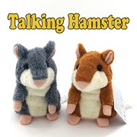 Wholesale toy talking repeat hamster - Talking Hamster Repeats What You Say The Cute Plush Animal Toy Electronic HamsterTalking Toys Mouse Pet Plush DHL free OTH092