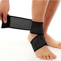 ingrosso protezione delle moto-Supporto elastico regolabile caviglia fasciatura caviglia Sport sicurezza caviglia brace pad protezione del piede calcio basket gamba gamba