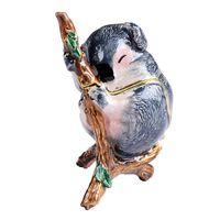 koala schmuck großhandel-Koala Tier Schmuckstück Schmuck Box Halskette Schatz Trinket Organizer Geschenke für Liebhaber