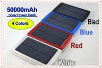 Wholesale Solar Universal Charger Mp3 - hot sale High quality 50000mAh Solar Power Bank Backup Battery 50000 mAh Solar Charger for GPS MP3 ipad Mobile Phone free shipping
