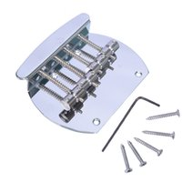 Wholesale Heavy Chrome string curved bass guitar bridge for Electric Bass MU0057