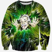 Wholesale Tie Dye Hoodies For Women - w1208 Alisister 2015 new fashion Einstein sweatshirt for women men painting hoodies casual harajuku Tie-dye sweat shirt tops