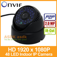 Wholesale Dome Night Vision Cams - Indoor FHD 1920 x 1080P 2.0MP IP Camera 48 LED IR Dome Security Camera ONVIF Night Vision P2P IP CCTV Cam with IR-Cut