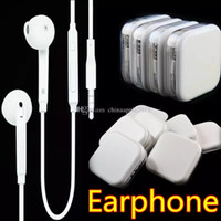 Wholesale ear phones for iphone - Universal In-Ear 105CM Earphone Earset headphone Earbuds With mic & Volume Control Earphone for iphone 5 6 Samsung s6 s7 s8 android phone