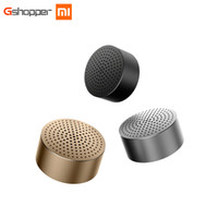 Wholesale Steel Player - Bluetooth Speaker Wireless Headphones Portable Mini Round Box Metal Steel Stereo HIFI Three Colors New Original Free Shipping