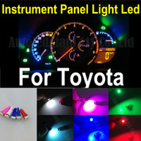 Wholesale Dashboard For Toyota Car - 25pcs T5 7Colors Led Wedge Light Bulb 286 74 5050SMD Instrument Light 12V Car Gauge Dashboard Dash Speedo Lamp Bulbs For Toyota