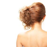 ingrosso accessori per capelli-Capelli sintetici in fibra ad alta temperatura cravatte capelli ricci scrunchie capelli coda di cavallo multi-way updo accessori per capelli