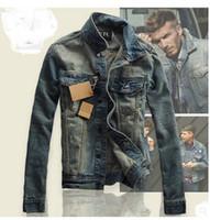 Wholesale Winter Jeans For Men - New Design Fashion Retro Jeans Jackets For Men Winter Autumn Denim Coat Outwear Tops Cowboy Wear Plus Size S-3XL