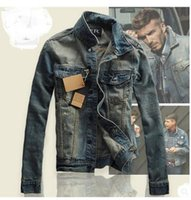 projeto do revestimento das calças de brim para homens venda por atacado-Novo Design de Moda Retro Jeans Casacos Para Homens Outono Inverno Denim Casaco Outwear Tops Cowboy Desgaste Plus Size S-3XL