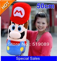 Wholesale Bears Plush Mario Bros - Free Shiping Hot Sell 50cm Large Pillow Mario Plush Pillow,High Quality Super Mario Bros Plush Doll
