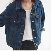 Wholesale Winter Clothes Designs For Women - Autumn Winter Jean Jacket for Women Fashion Clothing Long Sleeve Slim Jackets With Pocket Design Women Outerwear LX4096