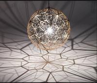 Wholesale Tom Dixon Etch Light - Wholesale-Geometry Tom Dixon Etch Web Diamond Pendant Light Lamp Home Bar Decor Gold Silver LED Christmas Lighting Fixture Free shipping