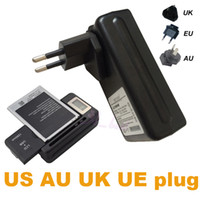 Universal Battery Wall USB Charger Power UK US EU AU Adapter Plug LCD para iphone 7 Samsung S7 Sony Note 3 S3 S4