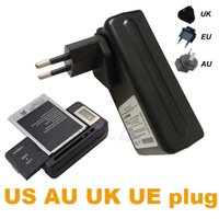 Wholesale Apple Lcd Adapter - Universal Battery Wall USB Charger Power UK US EU AU Adapter Plug LCD For iphone 7 Samsung S7 Sony Note 3 S3 S4