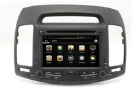 Wholesale Touch Dvd Elantra - Android 4.4 Car DVD Player for Hyundai Elantra 2007-2011 with GPS Navigation Radio Bluetooth TV USB SD AUX MP3 WiFi Head Unit