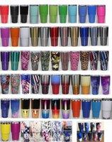 Wholesale Camo Travel Mug - New 65 Colors Camo Metallic Color 30 oz tumbler Cups Stainless Steel Double Wall Vacuum Insulated Travel Mug
