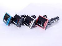 mini lecteur mp3 à distance achat en gros de-SG-S004 Mini-lecteur de voiture MP3 à écran multifonctions à écran LED avec prise en charge du modulateur FM avec télécommande (noir et bleu)
