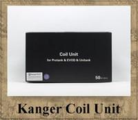 Wholesale E Cigarette Wicks Coils - Original Kanger Tech Protank 2 coil unit 1.2 ohm 1.5 ohm 1.8 ohm 2.0 ohm e Cigarette wick clearomizer