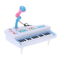 Wholesale Electrical Piano Musical Toys - 31 Keys Multifunctional Mini Simulation Piano Toy Electrical Keyboard Electone with Detachable Microphone Gift for Children order<$18no trac